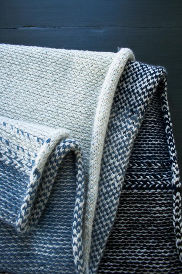 В'язаний жакардовий шарф спицями - 16