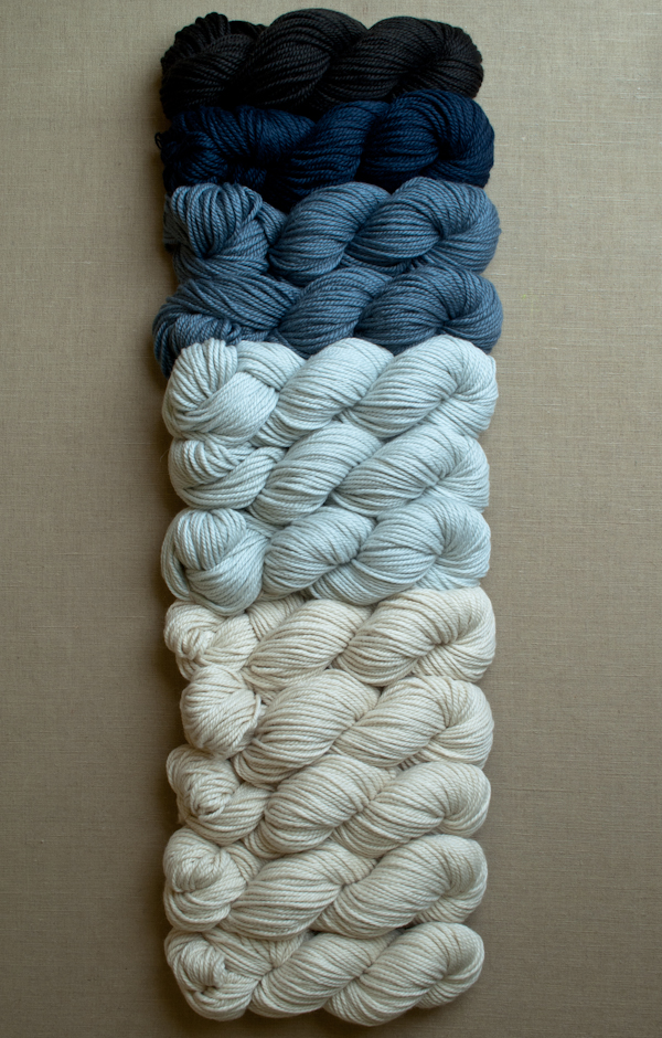 В'язаний жакардовий шарф спицями - 2