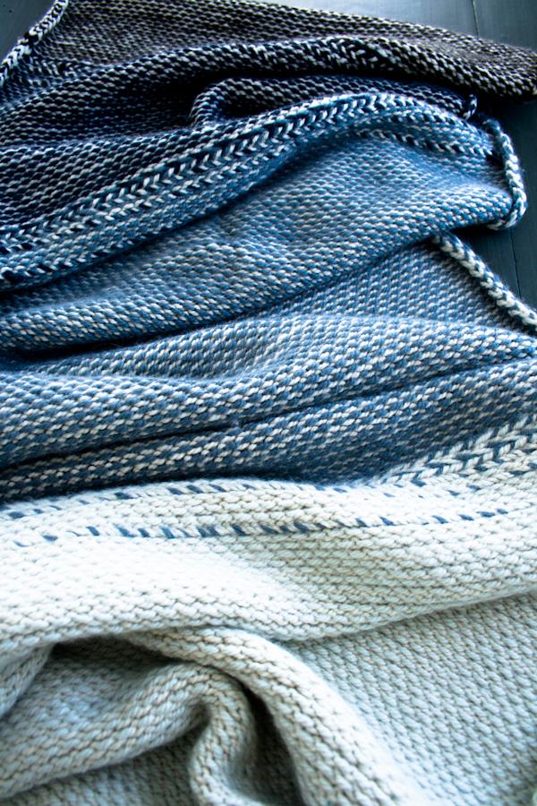 В'язаний жакардовий шарф спицями - 18
