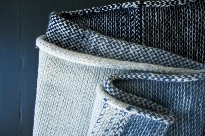 В'язаний жакардовий шарф спицями - 11