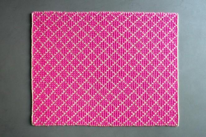 Коцик з жакардовим геометричним візерунком - 5