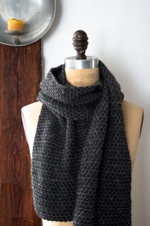 В'язаний простий шарф спицями для початківців - 4