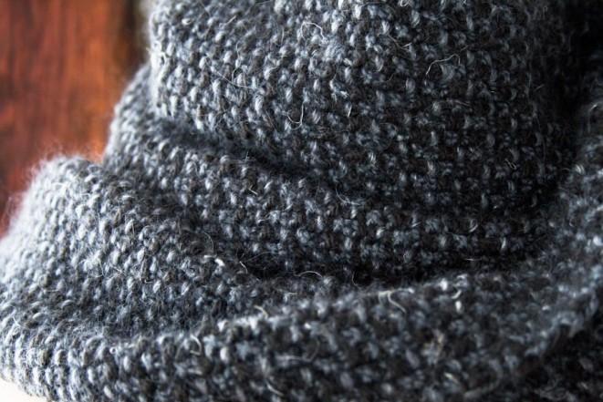В'язаний простий шарф спицями для початківців - 1