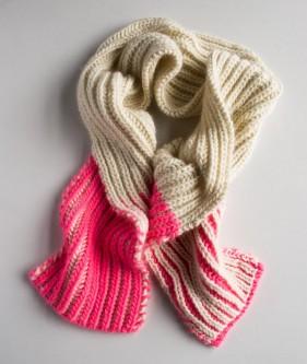 Пряжа для двохколірного шарфа - 2