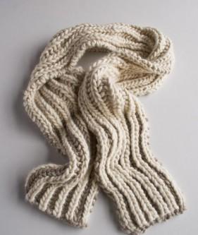 Пряжа для двохколірного шарфа - 4