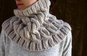 Cнуд (шарф-хомут) косами