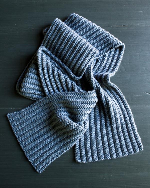 В'язаний шарф з двухстороннім візерунком - 7