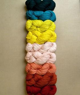 Палітра для широкого шарфа спицями - 1