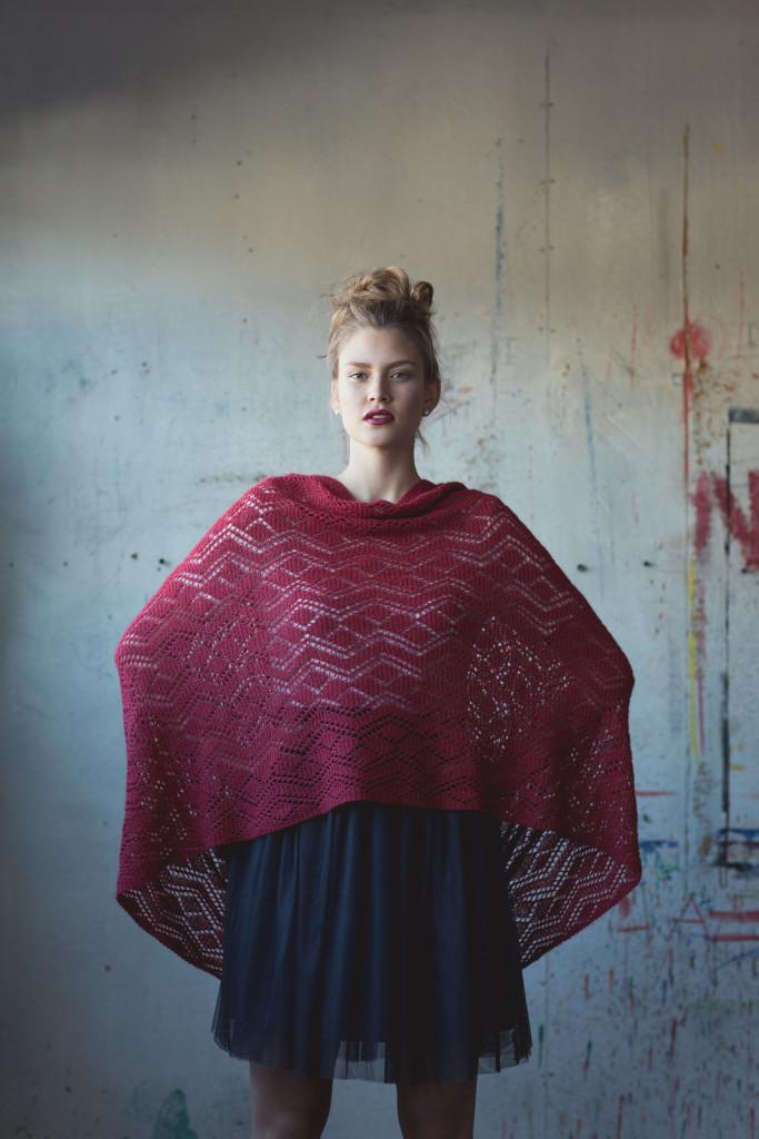В'язаний легенький шарф-хомут для літа - 4