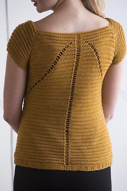 В'язаний пуловер з ажурним візерунком - 2