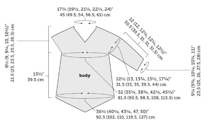 Схема туніки