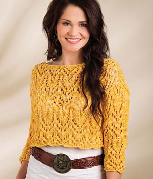 Ажурний пуловер - 1