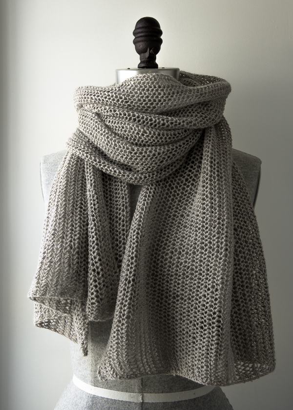 В'язаний літній шарф із лляної пряжі - 1