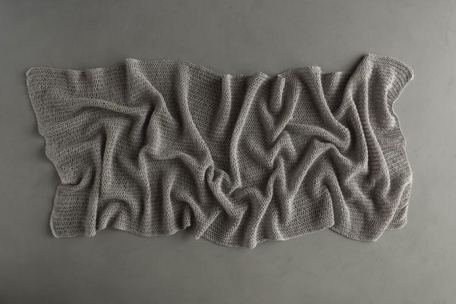 В'язаний літній шарф із лляної пряжі - 2