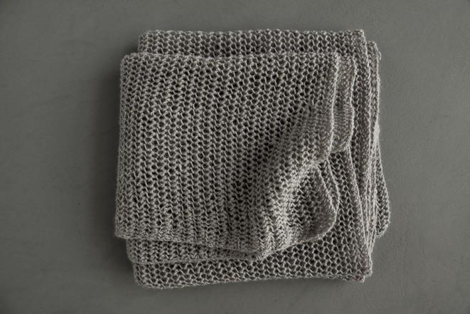 В'язаний літній шарф із лляної пряжі - 4