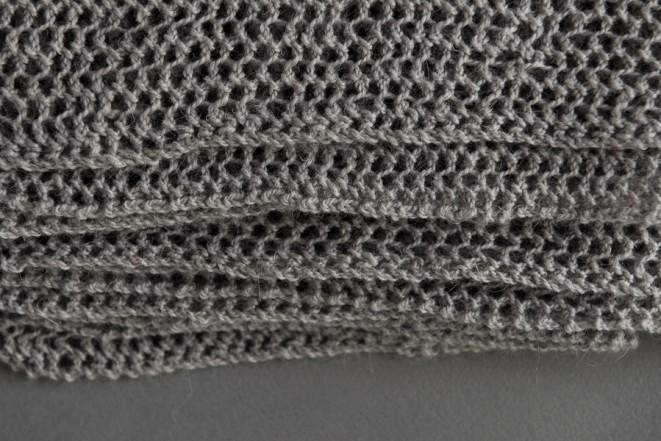 В'язаний літній шарф із лляної пряжі - 6