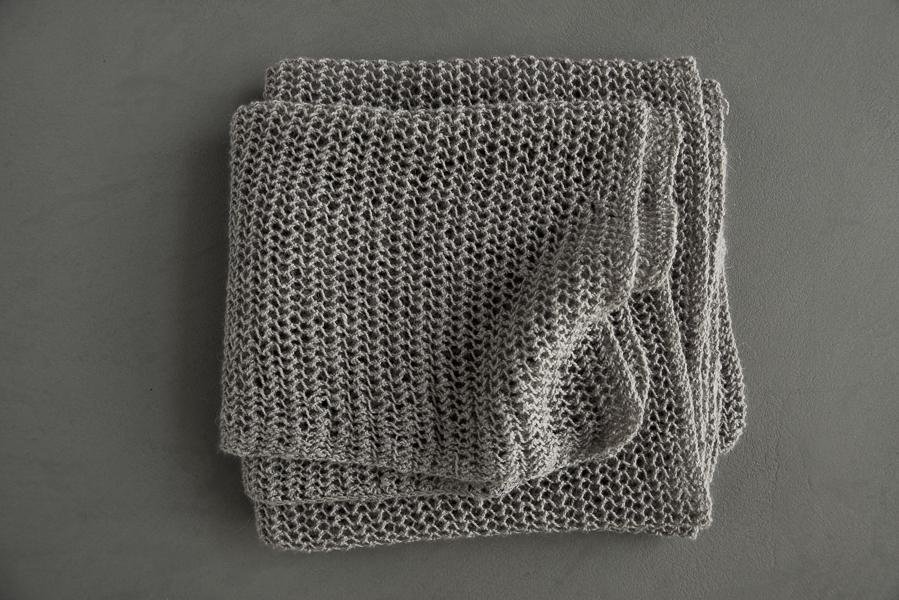 В'язаний літній шарф із лляної пряжі - 8