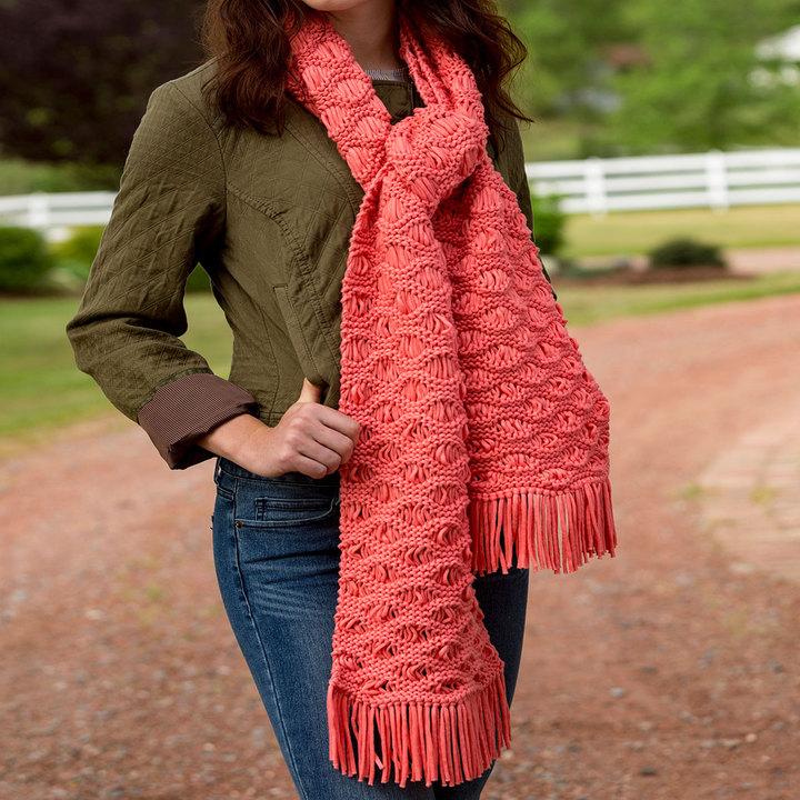 В'язаний хвилястий шарф спицями - 2