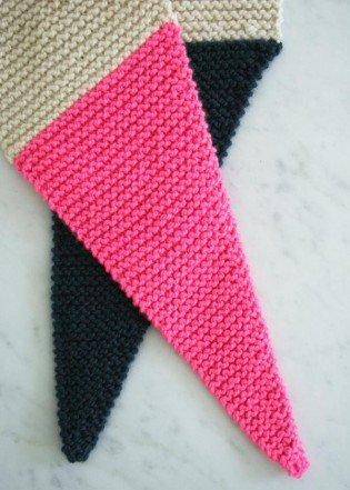 В'язаний шарф з гострими краями - 2