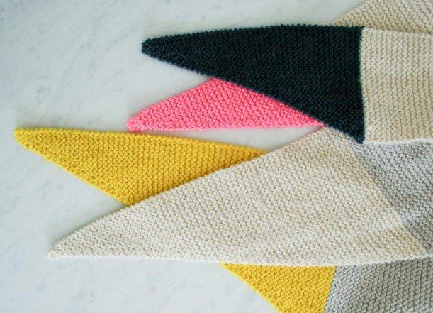 В'язаний шарф з гострими краями - 3