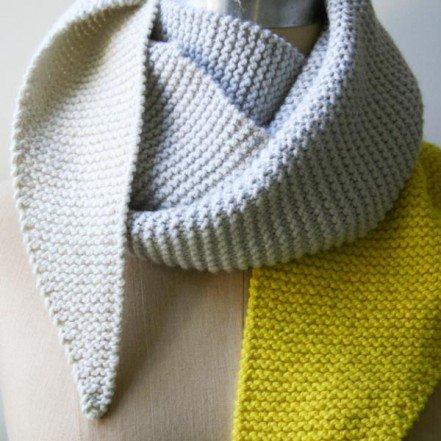 В'язаний шарф з гострими краями - 4