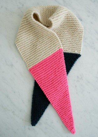 В'язаний шарф з гострими краями - 5