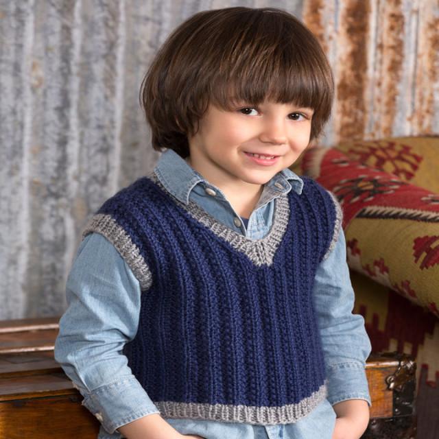 В'язана безрукавка для хлопчика - 1