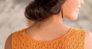 В'язана безрукавка з ажурними плечима та спинкою - 1