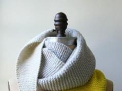 В'язаний шарф з гострими краями - 1
